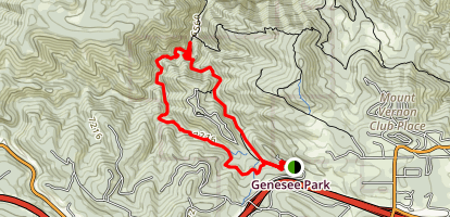 Beaver Brook and Chavez Trail Loop Map