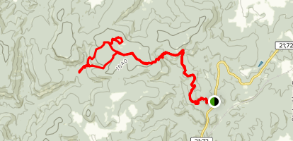 To Taum Sauk on the Ozark Trail Map