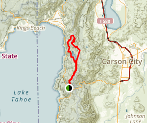 Flume Trail Loop Map