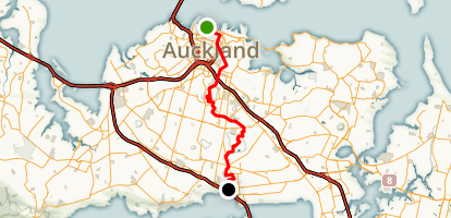 Auckland Coast to Coast Walkway Map
