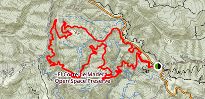 El Corte De Madera Loop- Tafoni Trail, Methuselah Trail, Gordon Mill Trail Map
