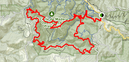 Gordon Mill to Timberview to Virginia Mill and Lawrence Creek Loop Map