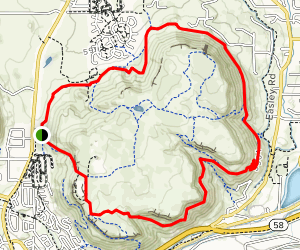 North Table Mountain Outer Rim Loop Map