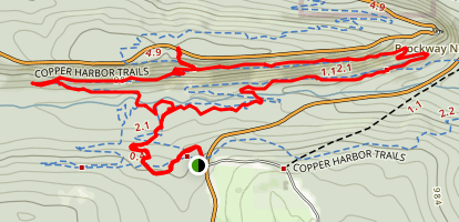 Copper Harbor Trails: Garden Brook and Woopidy Woo Map