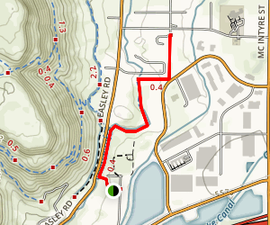 Golden Open Space Trail Map