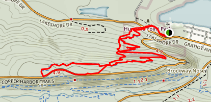 Copper Harbor Trails: The Flow and Overflow Loop Map