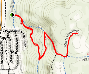 Lichen Peak Trail Map