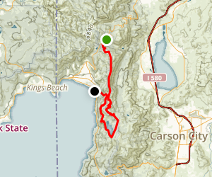 Tahoe Rim and Flume Trail Map