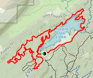 Double Oak Mountain Loop Map