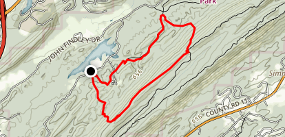 Oak Mountain Top Loop Map