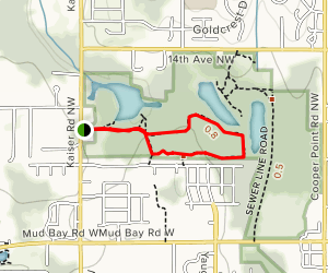 Grass Lake Nature Park Trail Map