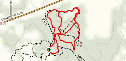 Second Creek, Deer Run, and Old Road Trails Map