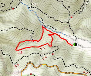 Canyon Road Trail to Carry Camp Trail Map