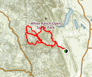 White Ranch Downhill MTB Trails Map