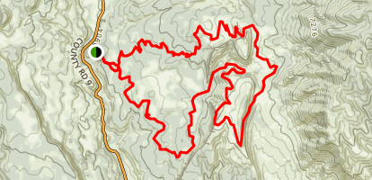 Oil Well Flats Trail Map