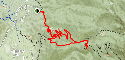 La Luz and Tramway Trail Loop Map