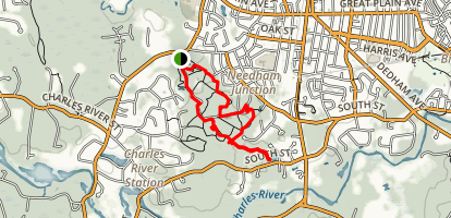 Needham Town Forest and Farley Pond Loop Map