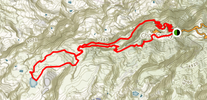 Champorcher to Lago Miserin Map