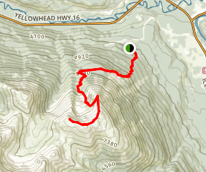 The Whistlers Trail Map