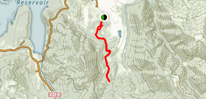 Soda Creek Trail to Horseshoe Gulch Map