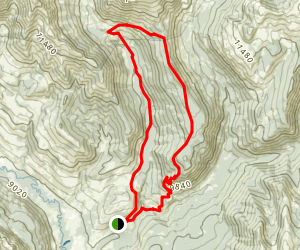Teocalli Ridge Loop Trail Map