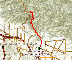 Gabrielino Trail: Jet Propulsion Laboratory to the USFS Dam Map