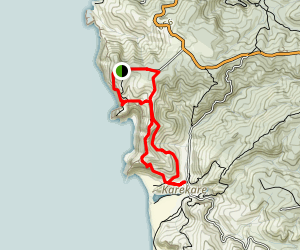 Log Race Road to Karekare Loop Map