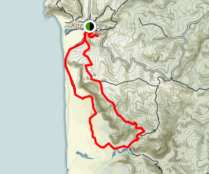 Karekare to Tunnel Point via Zion Hill Track Map