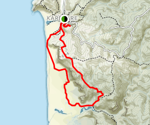 Karekare to Tunnel Point via Zion Hill Track {CLOSED} Map