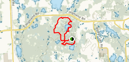 Haven Hill Lake Red-Green-Blue Loops Map