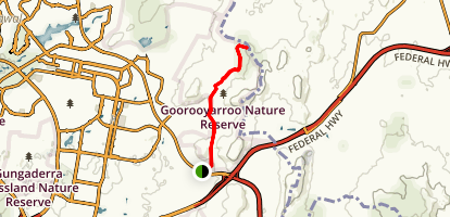 Goorooyarroo Walk to NSW Border Map