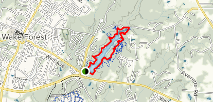 Wake Forest Reservoir Loop Map