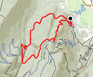 Armstrong Trail to Dawns Trail Loop Map