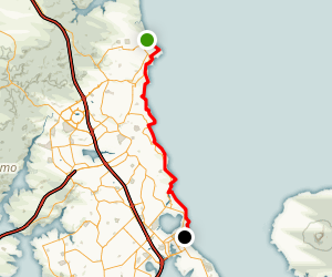 Takapuna to Long Bay Map