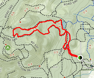 Road 500 and Section 36 Loop Trail Map