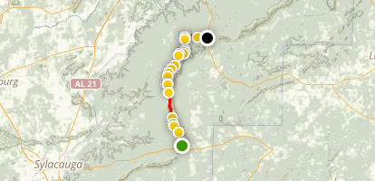 Pinhoti Trail: Bull's Gap to Porter's Gap Map