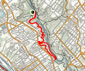 Wissahickon Creek Loop Map