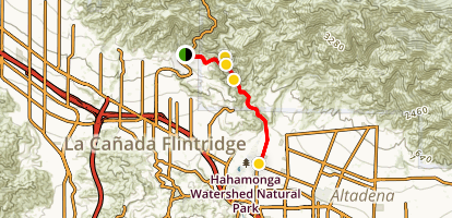 Angeles Crest Scenic Byway: La Canada to Mountain Top Junction Map