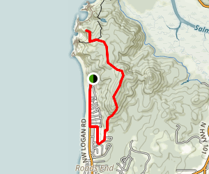 Roads End to Bowl Beach Map