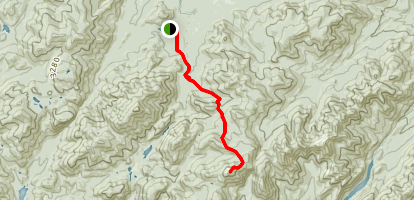 Mount Marcy from Adirondak Loj Map