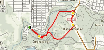 Bison Pasture Trail Map
