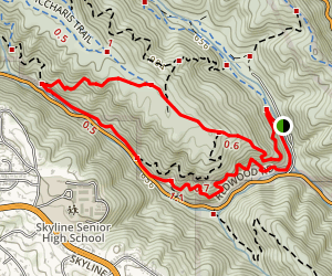 West Ridge/Golden Spike Loop Map