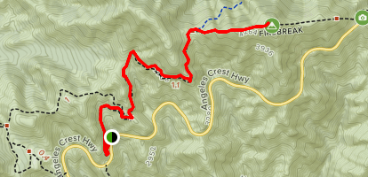 Hoyt Mountain via Grizzly Flats Trail  Map