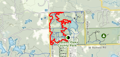 Addison Oaks County Park Loop Map