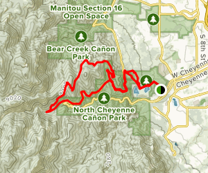 Gold Camp Rd to Buckhorn, Captain Jacks, and Chutes Map
