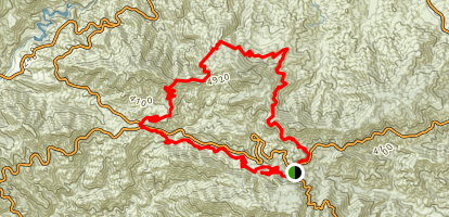 Strawberry Peak Loop Trail via Gabrielino Trail Map