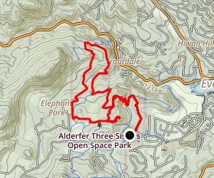 Hidden Fawn to Mount Muhly Trail Loop  Map