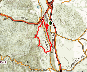 Dakota Ridge and Red Rocks Trail Loop Map