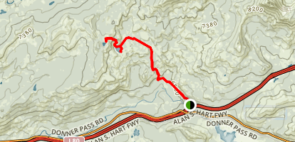 Lower and Upper Lola Montez Lakes Map