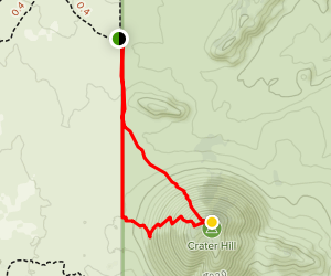Crater Hill  Map